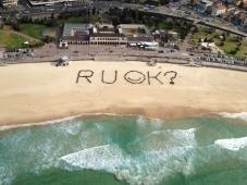 RUOK Bondi Beach Aerial Shot