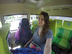 Traveling with the Kura Kura bus