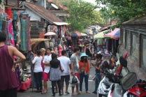 Bustling market street