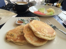 Breakfast favourite: Banana Pancakes and Fruit Salad