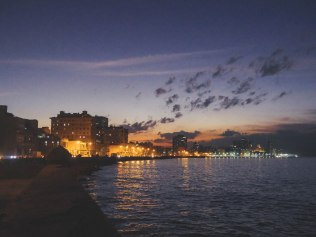 Malecon after sunset